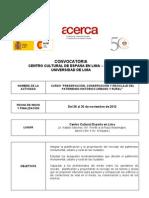 u. Lima Convocatoria Preservacion Conservacion Reciclaje