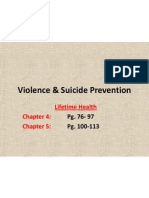 violence  suicide prevention