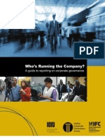 Who's Running the Company? A Guide to Reporting on Corporate Governance
