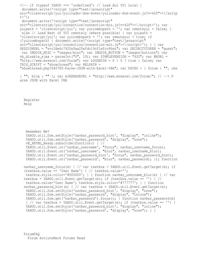 Parse JSON With Excel VBA | Microsoft Excel | Foro de Internet