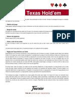 Reglamento El Poker Texas Hold Em