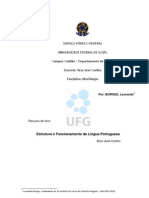 Resumo Do Braz Estrutura e Funcionamento Da Lingua Portuguesa