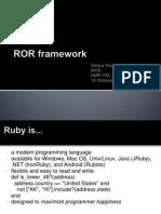 RoR Framework