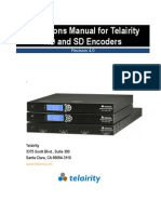 Operation Manual Telairity SD HD Encoder Setup Manual-E