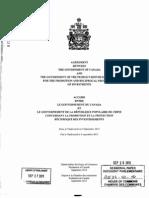 Canada-China FIPA and Explanatory Memorandum 8532-411-46(OCR)
