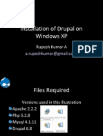 Installation of Drupal on Windows XP using Apache, Mysql and PHP