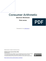 Consumer Arithmetic - electronic worksheets - PRINT version