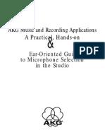 Microfonia y Tecnicas de Grabacion en Estudio