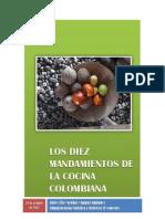 Los Diez Mandamiento de La Cocina Colombiana