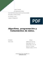 Algoritmo, Programacion y Tratamiento de Datos