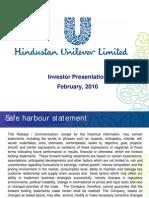 HUL-Investor Presentation 2010