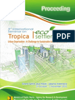 The 3rd International Seminar on Tropical Settlements. Urban Deprivation