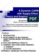 A Dynamic CAPM With Supply Effect(1)
