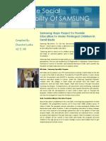 Chnchal -Samsung CSR