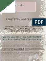 Lead Time Reduction - Part 01