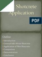 Wet Shotcrete Application