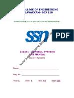 78541246 131451 Control Systems Lab Manual