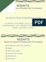 Time Study Metodh Modapts