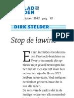 Stop de Lawine - Sociale Netwerken - Column Dirk Stelder