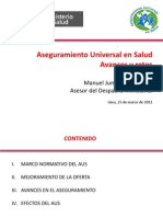 Aseguramiento Universal en Salud Avances y Retos