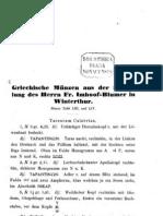 Griechische Münzen aus der Sammlung des Herrn Fr. Imhoof-Blumer in Winterthur / [Fr. Imhoof-Blumer]