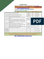 Katalog Skripsi Teknik Mesin