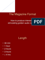 The Magazine Format