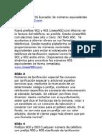 LINEAS 900 | LLAMADAS GRATUITAS | NO MAS 900