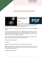 How to Schedule Your Facebook Posts