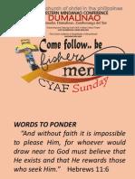 Cyaf Sunday 10-14-2012 Dumalinao