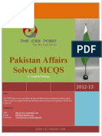 Pakistan Affairs Solved MCQS - A Complete Package