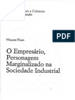 O Empresário, Personagem Marginalizado na Sociedade Industrial