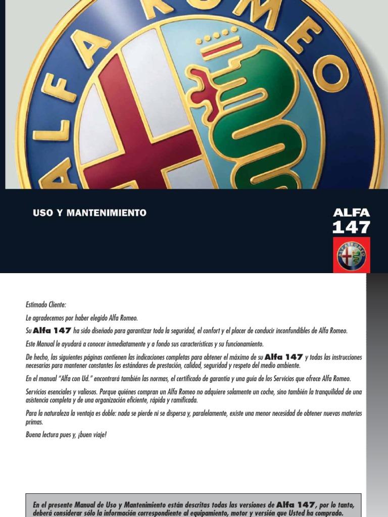manual alfa 147