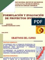 FORMULACIÓN  DE PROYECTOS DE INVERSIÓN 1