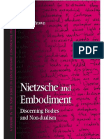 Nietzsche and Embodiment Discerning Bodies and Non Dualism S U N Y Series in Contemporary Continental Philosophy