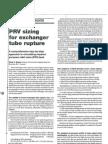 PRV Sizing for Exchanger Tube Rupture