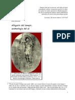 Allegorie del tempo, archeologia del sé