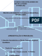 PRÁTICA DE DIR NOTARIAL E REGISTRAL