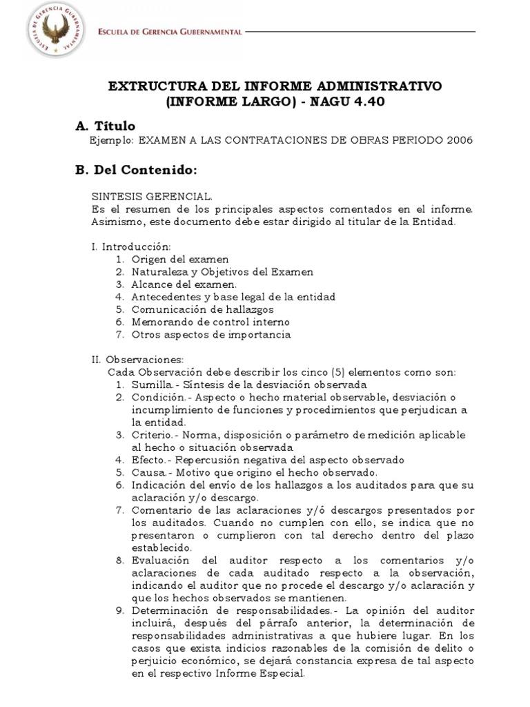 02 Estructura Y Contenido De Informe Administrativo