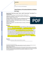 Brain Injury - Predicting Longitudinal Patterns of Functional Deficits in Children With TBI