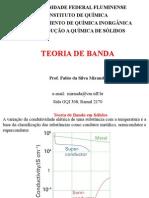 Prof Fabio MirandaTeoria Dos Orbitais BANDAS Em SOLIDOS Curso Nivelamento 2012