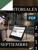 Editoriales Palestina Hoy Septiembre 2012