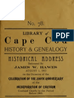 Historical Address Delivered by James W. Hawes - 200th Anniversary of Chatham v1