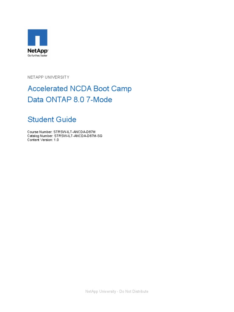 Netapp Student Guide_NCDA | Domain Name System | Port (Computer Networking)
