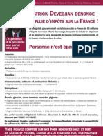 Tract - Patrick Devedjian dénonce la pluie d'impôts sur la France !