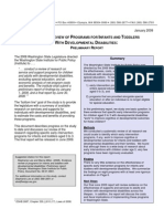 Evidence Review of Programs for Infants and Toddlers With Developmental Disabilities