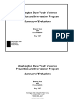 Washington State Youth Violence Prevention and Intervention Program