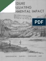 Un Procedimiento Para Evaluar El Impacto Ambiental - Leopold