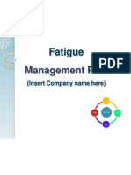fatigue mangement plan - sample