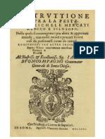 Mercati Instruttione Sopra La Peste 1576 Italiano